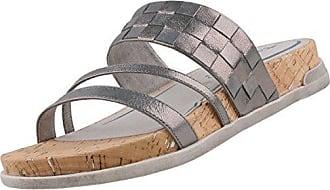 Tamaris Damen Pantoletten Silber, Schuhgröße:EUR 37
