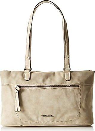 Damen Vivien Handbag Handgelenkstasche, Beige (Sand Comb), 14x24x36 cm Tamaris