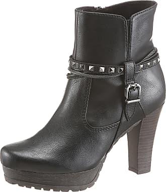 Tamaris High-Heel-Stiefelette, mit Zierbändern, grau, EURO-Größen, grau