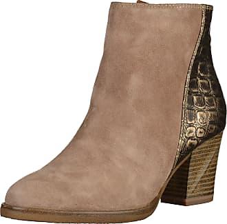 Tamaris High-Heel-Stiefelette, im Seventies-Style, braun, EURO-Größen, kastanie-olivgrün