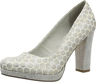 Womens 22449 Closed Toe Heels, Blau (Denim/Cork 861) Tamaris