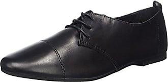 23222, Zapatos de Cordones Oxford para Mujer, Negro (Black 001), 42 EU Tamaris