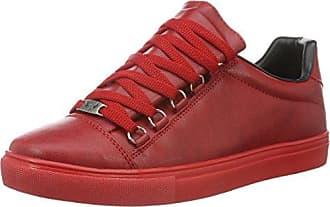8102 - V - Scarpe Basse Stringate Uomo, Rosso (Red 02), 43 Tamboga