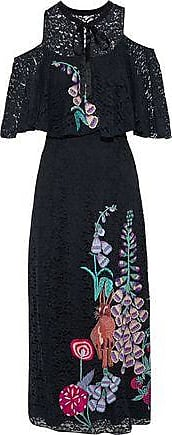 Temperley London Woman Leo Embroidered Corded Lace Dress Black Size 12 Temperley London KI8D4vrzq