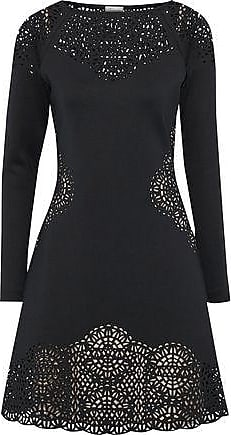 Temperley London Woman Sami Laser-cut Neoprene Dress Dark Green Size 6 Temperley London Byao4tTMbJ