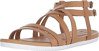 Avalina Crossover Leather Ws - Sandalias Atléticas Mujer, Color Beige, Talla 40 EU Teva