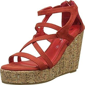 JLH629 - Sandalias de vestir para mujer, color Red, talla 36 Goodyear