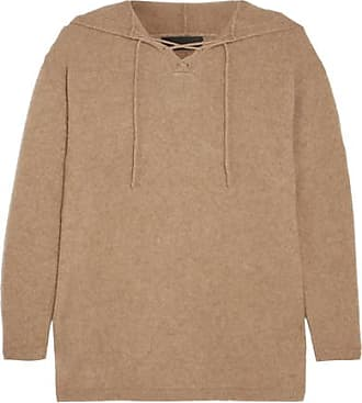A.p.c. Woman Striped Pointelle-knit Cotton, Silk And Cashmere-blend Sweater Light Brown Size S A.P.C.