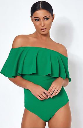 Get Basics Green Bodysuit The Fashion Bible Low Shipping A35WK