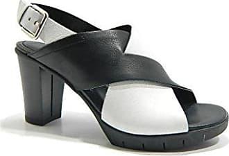 Sandalen Schuhe C611/03 Yummy Schwarz/Weiss Größe 35 Weiß/Schwarz The Flexx GD1Wh1Y1e