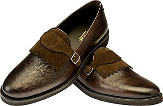 Black Berny Leather Double Buckle Monk Strap Shoes BELSIRE MILANO daxzE