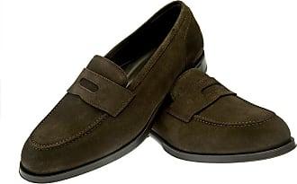 Mahogany Brenno Leather Penny Loafers BELSIRE MILANO IXMvZZK