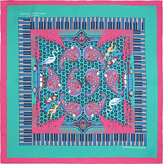 Turquoise and Fuchsia Rhythm Paisley Print Silk Pockey Square Turnbull & Asser VVj3AmyK8