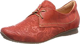 Chilli_282102, Zapatos de Cordones Brogue para Mujer, Gris (Stahl 18), 43 EU Think