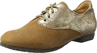 Chilli_282100 Penser, Chaussures Richelieu Des Femmes Des Laceup, Blanc (rum / Kombi 54), 41,5 Eu