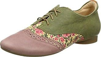 Think Anni_282055, Zapatos de Cordones Brogue para Mujer, Azul (Jeans/Kombi 84), 36 EU