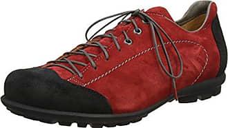 Think Guru_282690, Zapatos de Cordones Brogue para Hombre, Rojo (Rosso/Kombi 72), 41 EU