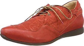 Guad_282284, Zapatos de Cordones Brogue para Mujer, Rojo (Rosso 70), 42.5 EU Think