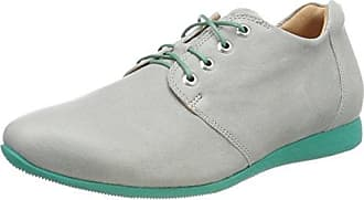 Think Raning_282098, Zapatos de Cordones Brogue para Mujer, Gris (Stahl/Kombi 19), 38 EU