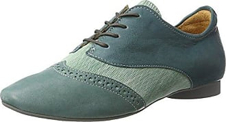 Think Shua_282035, Zapatos de Cordones Brogue para Mujer, Dorado (Sand 43), 41.5 EU