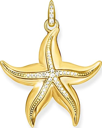 Thomas Sabo personalised Charm pendant disc yellow gold-coloured 1637-413-39 Thomas Sabo G7ko7