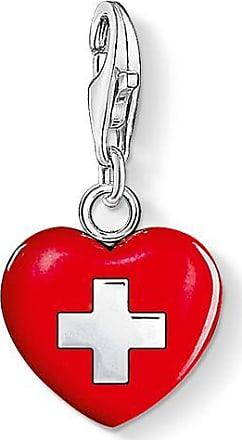 Thomas Pendentif Coeur Charme Sabo Suisse Rouge 0894-007-10 Thomas Sabo IBPZHzqSY