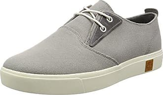 Timberland Bayham, Zapatos de Cordones Oxford para Hombre, Blanco (Rainy Day Canvas F48), 45 EU