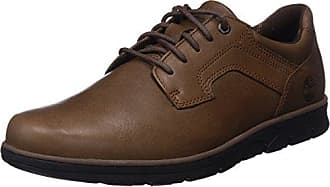 Timberland Bradstreet Plain Toe Sensorflex, Zapatos de Cordones Oxford para Hombre, Marrón (Saddle Nubuck F13), 39.5 EU