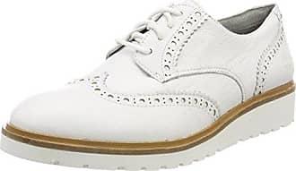 TBS Polshoe, Zapatos de Cordones Oxford para Hombre, Blanco (Blanc 007), 45 EU