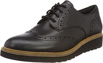 Timberland Bradstreet Padded Collar Sensorflex, Zapatos de Cordones Oxford para Hombre, Negro (Jet Blank Escape), 43.5 EU