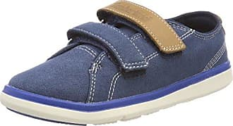 Timberland Groveton, Zapatos de Cordones Oxford Unisex Niños, Azul (Nebulas Blue Canvas with Blue Nights J45), 33 EU
