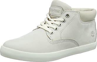 Timberland Boltero, Zapatos de Cordones Oxford para Mujer, Blanco (Rainy Day Nubuck F48), 39.5 EU