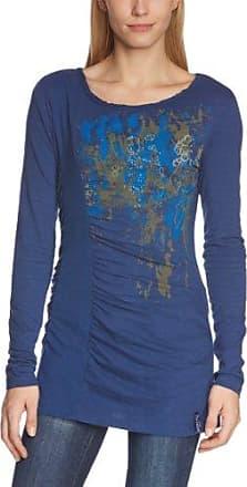 Timezone Rock´n Roll Longsleeve, Camiseta para Mujer, Negro (Washed Black 9091), 38