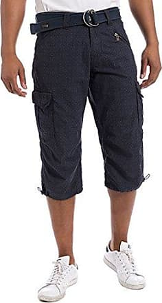 MilesTZ Cargo 3/4 Pants Incl. Belt - Short Hombre, Color Azul, Talla 44 (Talla Fabricante: 29) Timezone