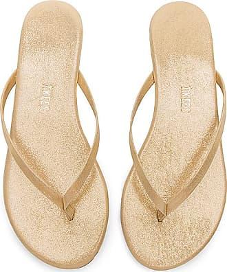 Sandal In Metallic Gold. Santal En Or Métallique. - Size 10 (also In 5,6,7,8,9) Tkees - La Taille 10 (également En 5,6,7,8,9) Tkees