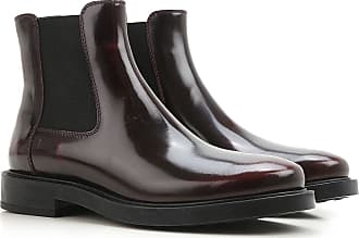 Chelsea Boots for Women On Sale, Dark Bordeaux Red, Patent, 2017, 4 5.5 7.5 Tod's