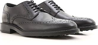 Zapatos Calados Brogue Baratos en Rebajas, Negro, Piel, 2017, 36 38.5 39 Tod's