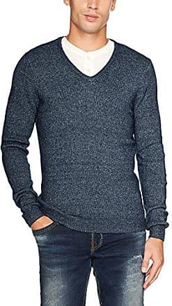 Jacquard, Suéter para Hombre, Azul (True Dark Blue 6811), Medium Tom Tailor