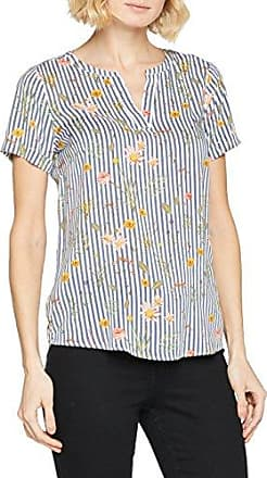 Tom Tailor Trendy Linen Blend Blouse, Blusa para Mujer, Azul (Real Navy Blue 6593), 44 (Talla del Fabricante: 42)