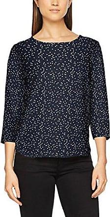 Tom Tailor Denim Printed Tunic with Zip At Back, Blusa para Mujer, Azul (Original 1000), 36 (Talla del Fabricante: Small)