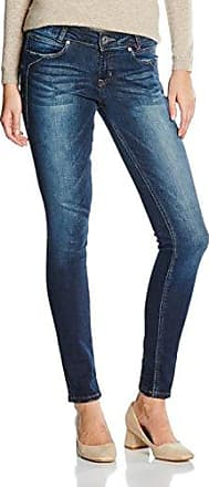 Tom Tailor Denim Janna Authentic Middle Blue, Jeans Mujer, Azul (Moon Wash Mid Blue Denim), W32/L30 (Talla del fabricante: 32)