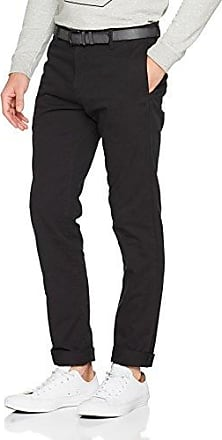Basic Chino Woollook, Pantalones para Hombre, Gris (Deep Space Melange 2752), 44 (Talla del fabricante: Small) Tom Tailor Denim