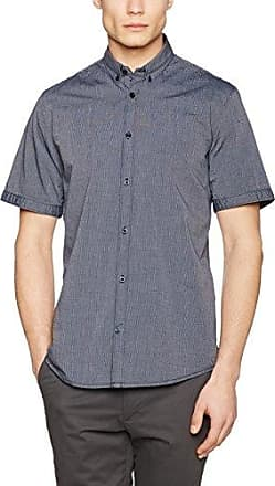 Ray 2 Face Design Mix Shirt, Chemise Casual Homme, Bleu (Advanced Blue 6449), LTom Tailor