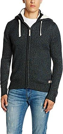 fancy mouliné hood jacket, chaqueta punto Hombre, Negro (dusyt black), XX-Large Tom Tailor