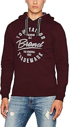 Basic Sweatjacket, Sudadera para Hombre, Rojo (Deep Burgundy Red 4257), X-Large Tom Tailor