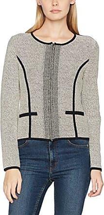 Tom Tailor Feminine Structure Sweater, Chaqueta para Mujer, Beige (Whisper White), 36 (Talla del Fabricante: Small)