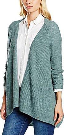 Tom Tailor Doubleface Cardigan, Chaqueta Punto para Mujer, Gris (Alloy Grey Melange 2224), Medium