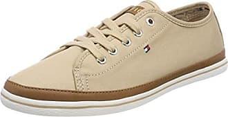 Tommy Hilfiger Glitter Textile Flatform Sneaker, Zapatillas para Mujer, Beige (Sand 102), 39 EU