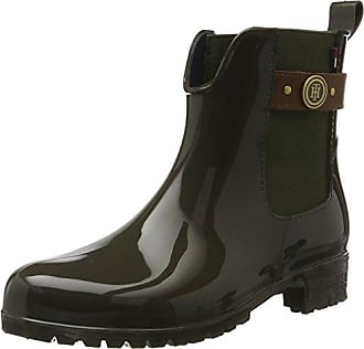 Tommy Knit Rain Boot, Botas de Agua para Mujer, Verde (Dusty Olive 011), 37 EU Tommy Hilfiger