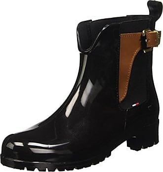 Tommy Hilfiger FW56821463, Bottes Classiques FemmeNoirNoir (Black 990), 38 EU